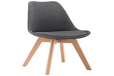 Spisebordsstole 2 Stk. Stof Mørkegrå