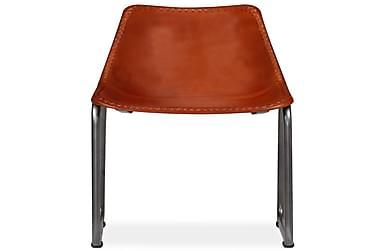 Spisebordsstole 4 Stk. Ægte Læder Brun