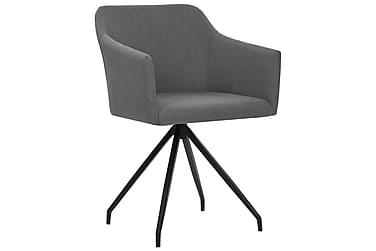 Spisebordsstole 4 Stk. Drejelig Lysegrå Stof