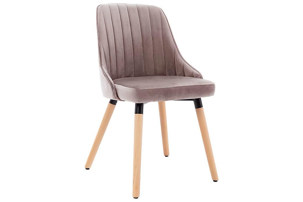 Spisebordsstole 4 stk. fløjl pink - Lyserød - Møbler - Stole - Spisebordsstole & køkkenstole