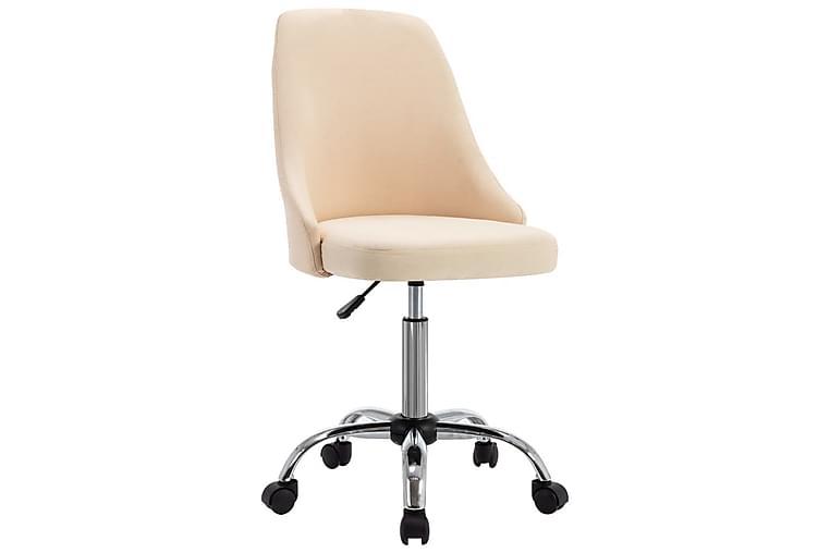 spisebordsstole 4 stk. stof cremefarvet - Creme - Møbler - Stole - Spisebordsstole & køkkenstole