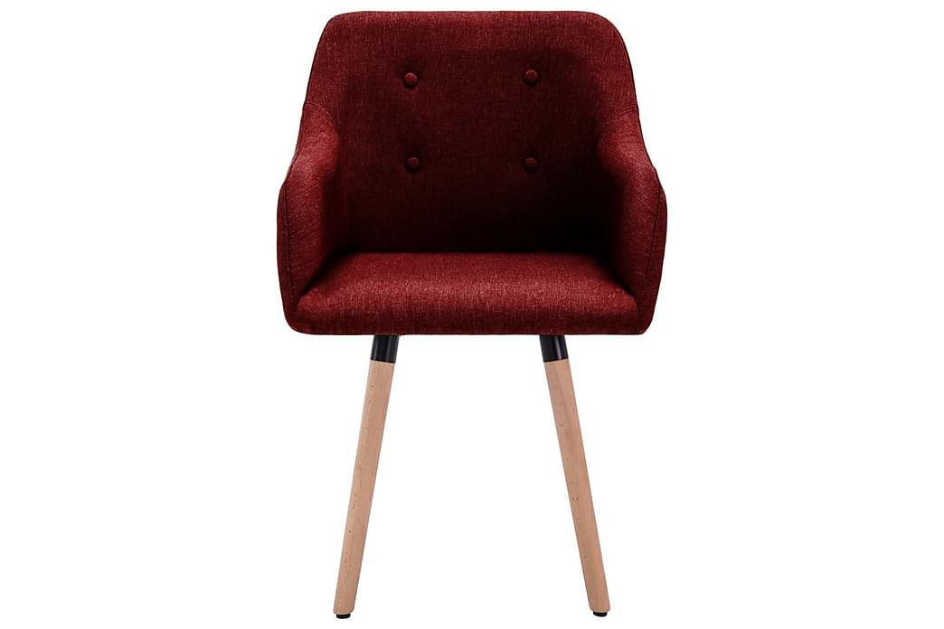 Spisebordsstole 4 Stk. Stof Vinrød - Rød - Møbler - Stole - Spisebordsstole & køkkenstole