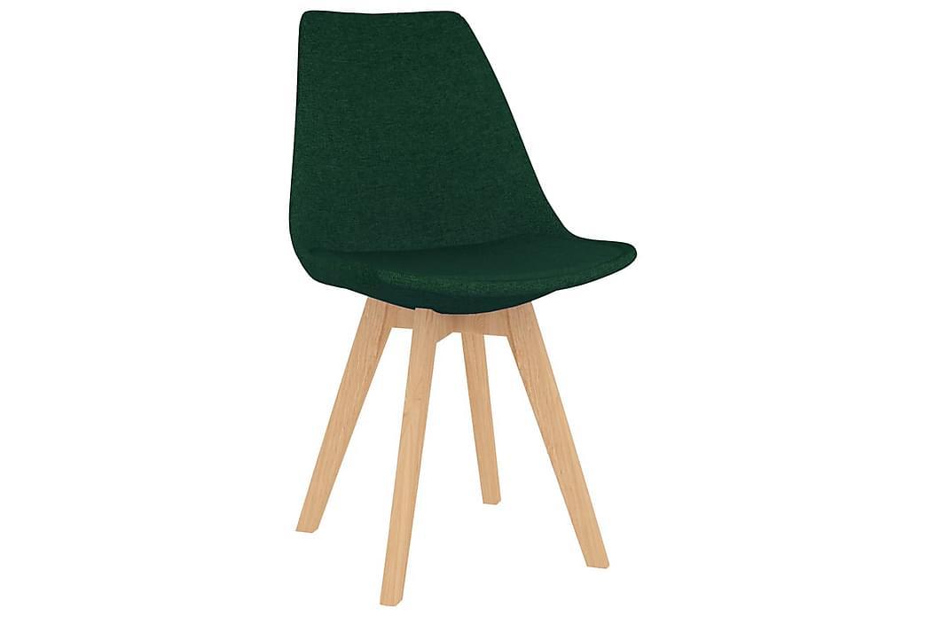 Spisebordsstole 6 stk. stof mørkegrøn - Grøn - Møbler - Stole - Spisebordsstole & køkkenstole