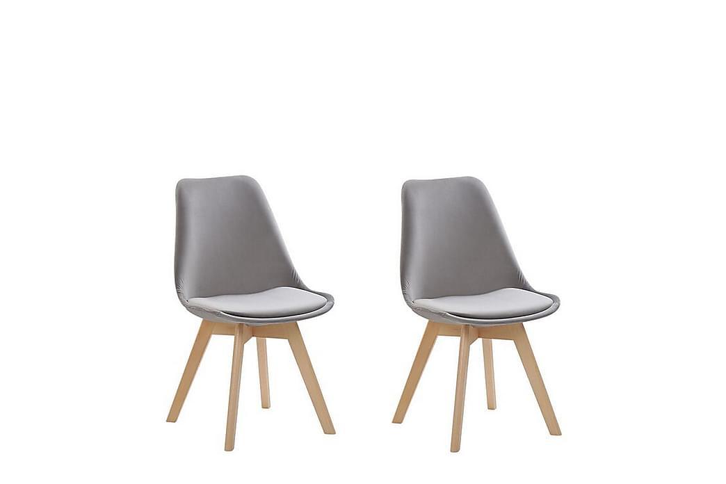 Tulunda II Velourstol 2-pak - Grå - Møbler - Stole - Spisebordsstole & køkkenstole