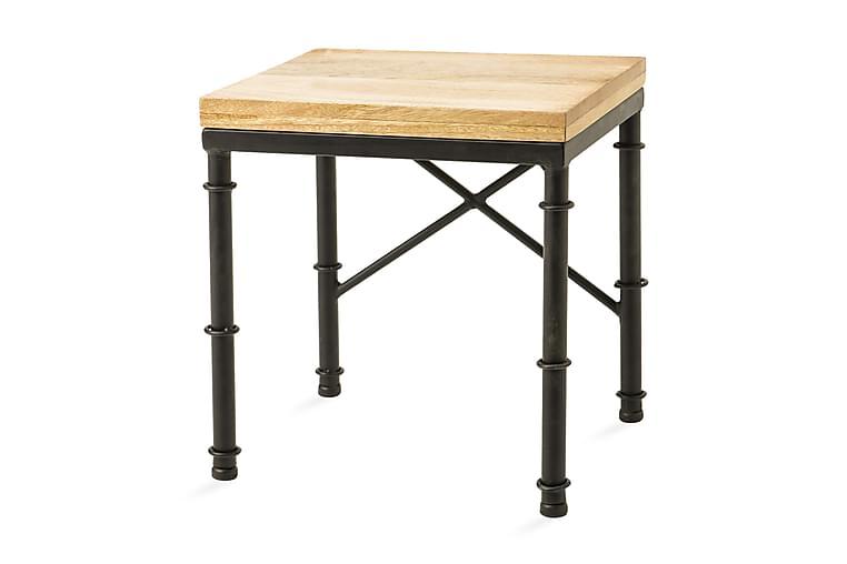 Siddepuf 33 cm - Træ / natur / sort - Møbler - Stole - Taburet & skammel