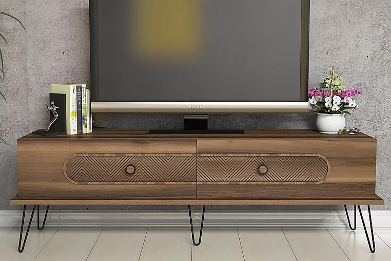 Hovdane TV-Bord 145 cm - Brun - Møbler - TV-Borde & Mediemøbler - TV-borde