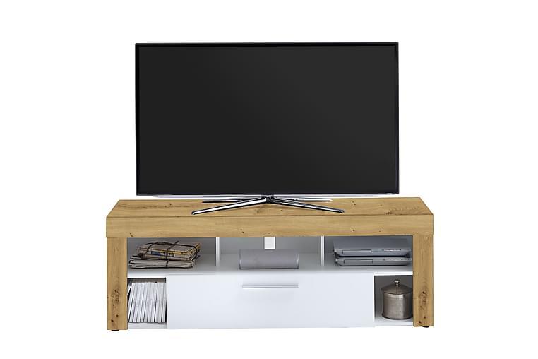 Rasset TV-Bord 150 cm - Brun/Hvid - Møbler - TV-Borde & Mediemøbler - TV-borde