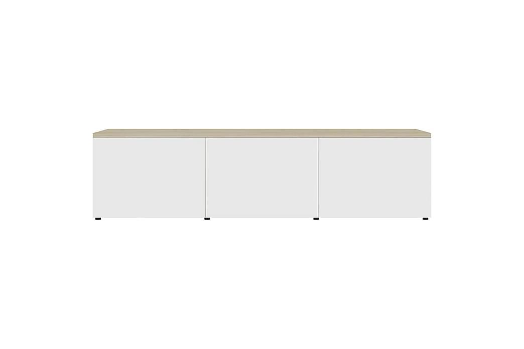 Tv-Skab 120x34x30 cm Spånplade Hvid Og Sonoma-Eg - Beige - Møbler - TV-Borde & Mediemøbler - TV-borde