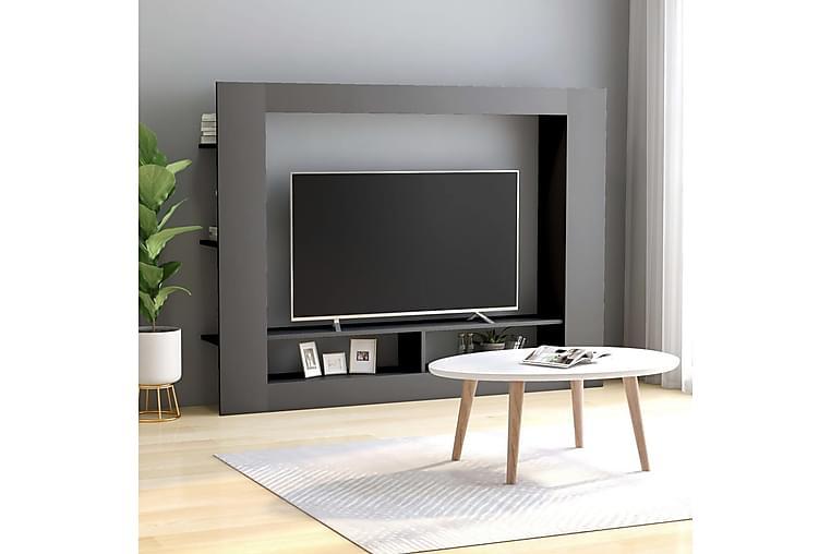 tv-skab 152 x 22 x 113 cm spånplade grå - Grå - Møbler - TV-Borde & Mediemøbler - TV-borde