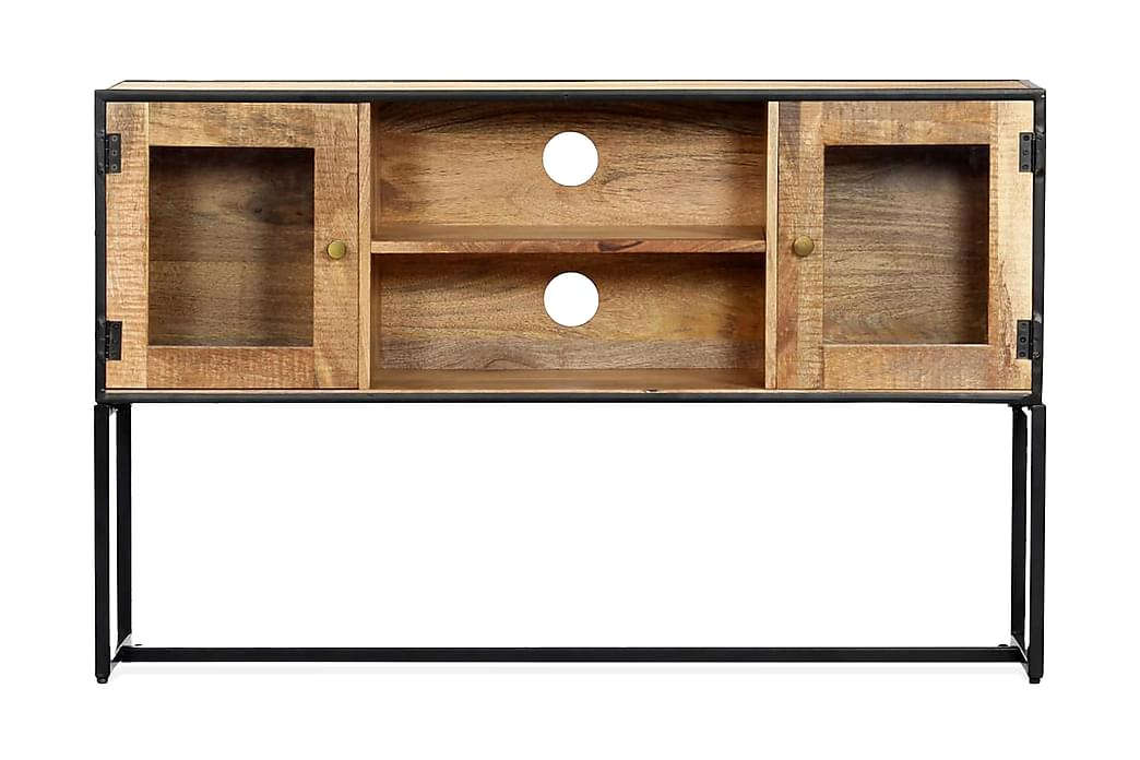 Tv-Skab Massivt Genanvendt Træ 120 X 30 X 75 Cm - Brun - Møbler - TV-Borde & Mediemøbler - TV-borde