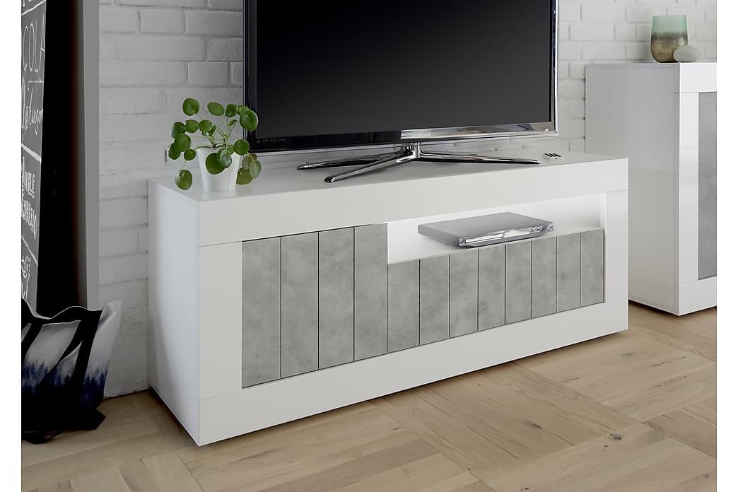Urbino TV-Bord 138 cm - Hvid/Lysegrå - Møbler - TV-Borde & Mediemøbler - TV-borde