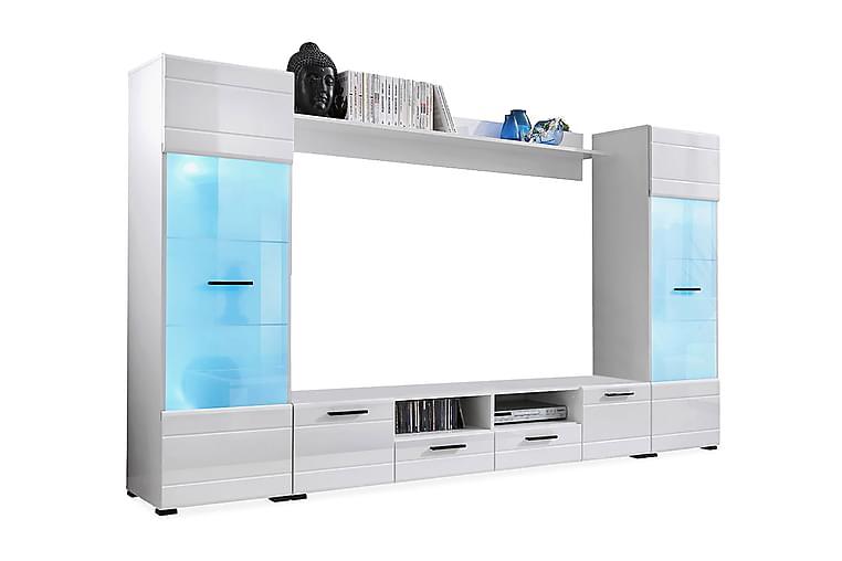 Apryl Mediamøbel 260 cm - Hvid - Møbler - TV-Borde & Mediemøbler - Tv-møbelsæt