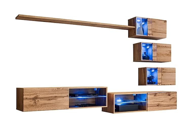 Apryl TV Møbelsæt + LED - Møbler - TV-Borde & Mediemøbler - Tv-møbelsæt