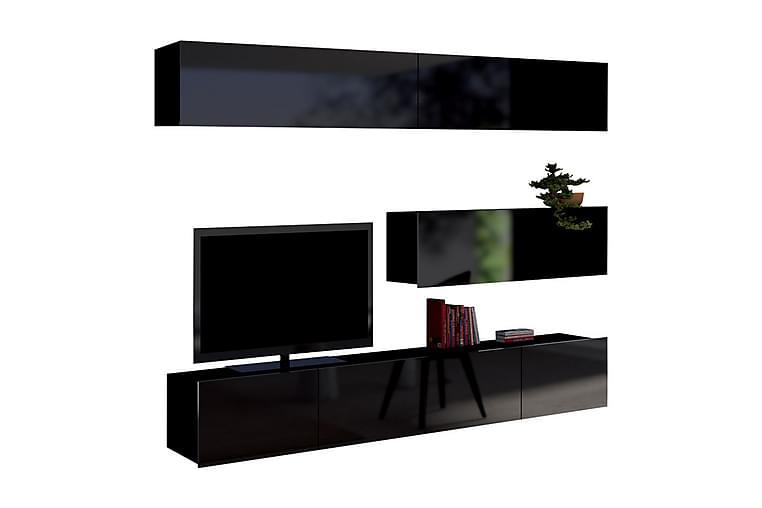 Calabrini tv-møbelsæt - Sort - Møbler - TV-Borde & Mediemøbler - Tv-møbelsæt
