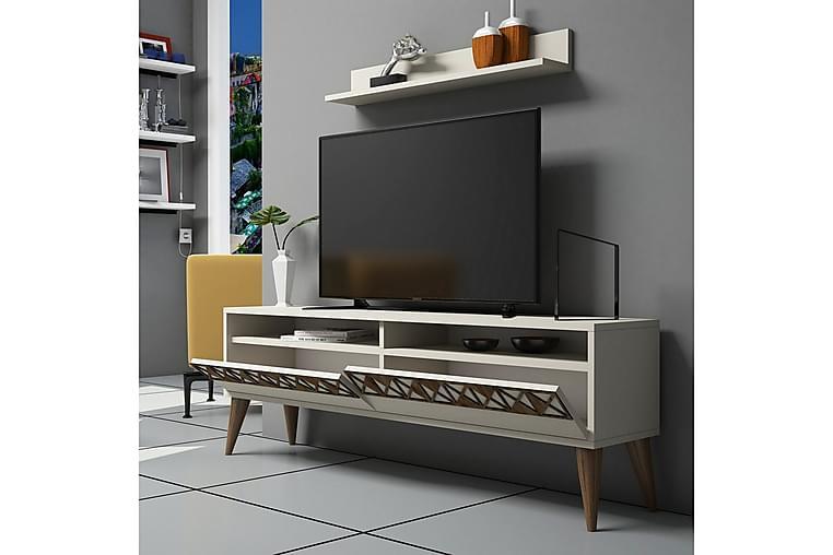 Muennink Stuesæt 150 cm - Hvid - Møbler - TV-Borde & Mediemøbler - Tv-møbelsæt