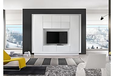 Sky TV-Vægkombinationination Hvid