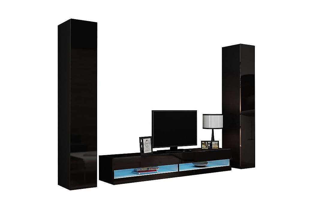 Vigo TV-møbelsæt 260x40x180 cm - Hvid - Møbler - TV-Borde & Mediemøbler - Tv-møbelsæt