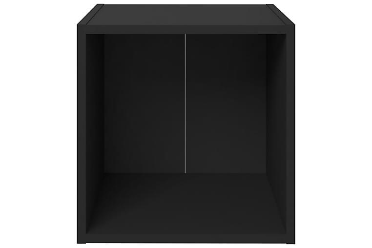 tv-skabe 2 stk. 37x35x37 cm spånplade sort - Sort - Møbler - TV-Borde & Mediemøbler - TV-skab