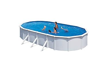 Kwad Swimmingpoolsæt Steely Deluxe Oval 6,1 X 3,6 X 1,2 M