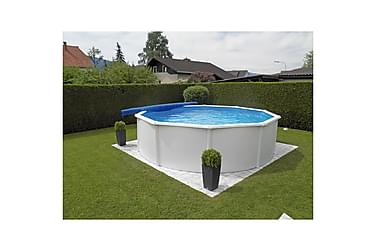 Kwad Swimmingpoolsæt Steely Deluxe Rund 5,5 X 1,2 M