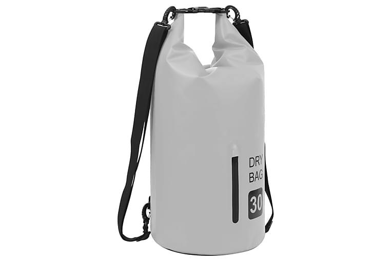 vandtæt tørpose m. lynlås 30 l PVC grå - Sport & fritid - Camping & vandring - Udekøkken & camnpingkøkken