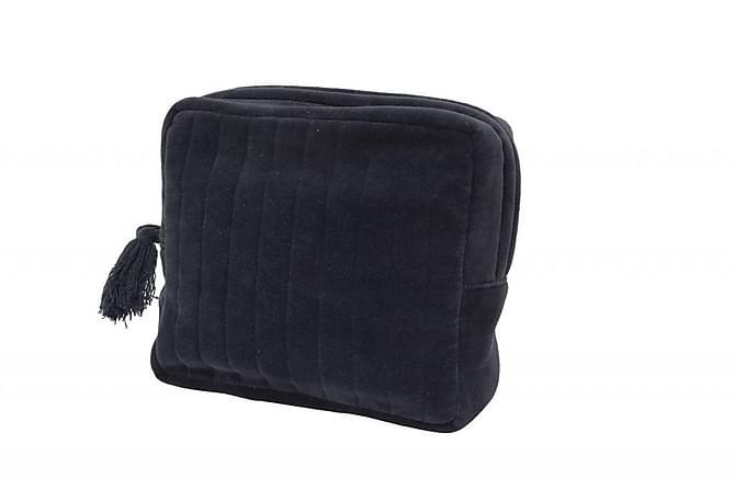 Payton Toilettaske  18x21 cm - Blå/Velour - Boligtilbehør - Kurve & kasser - Opbevaring til småting