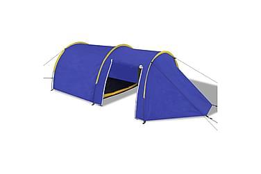 Camping Telt 4 Personer Marineblå / Gul